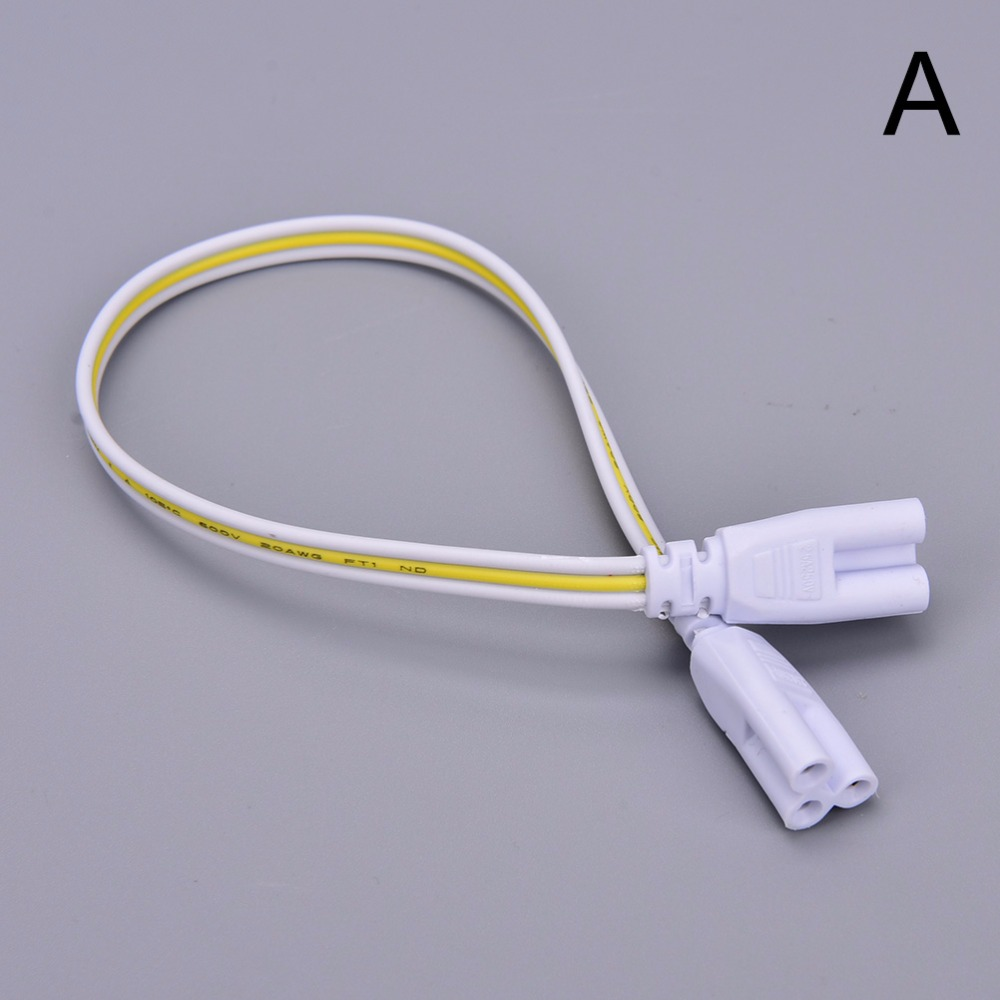 1Pcs 3 pin or 2 pin LED Tube Connector 30cm Two-phase Three-phase T4 T5 T8 Led Lamp Lighting