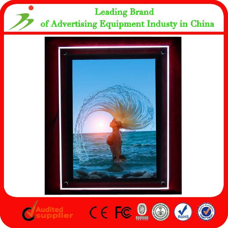 Custom Edge Lit A2 Led Acrylic Crystal Light Frame
