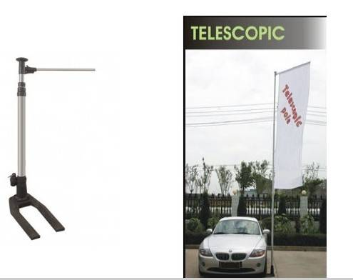 Telescopic car pole