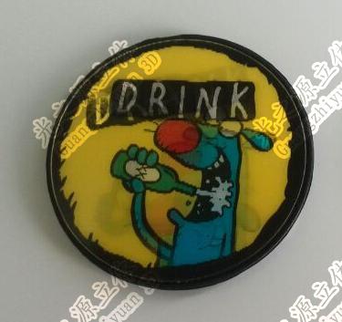 3D lenticular badge
