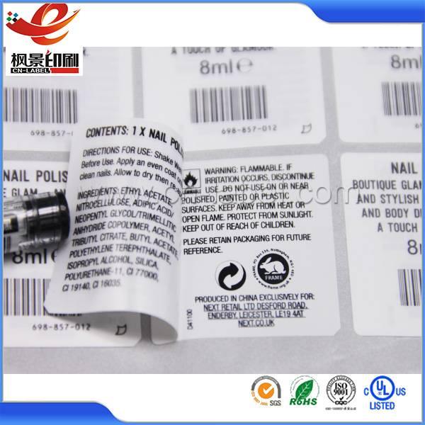 Custom double layer label sticker