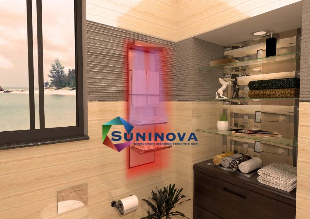 Electric towel warmer, wireless control, auto-working, alternative energy-saving heater