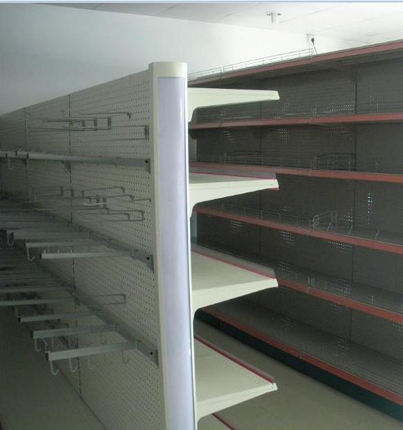 Supermarket back hole panel shelf