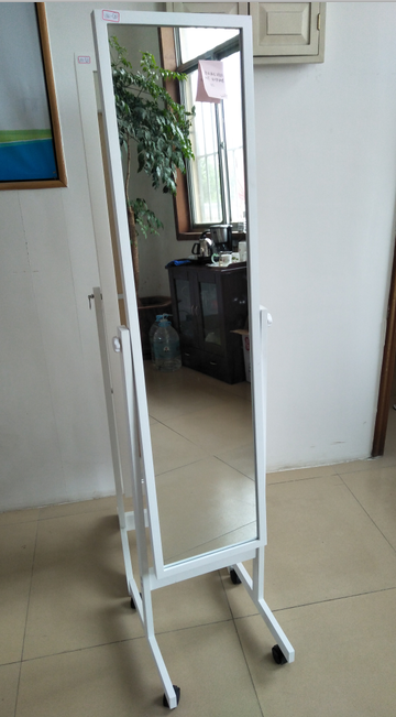 Home deocr, mirror with wheels, wooden frame mirror