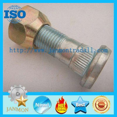 Customized High Strength Zinc Plated Wheel Bolts and Nuts For Tractor