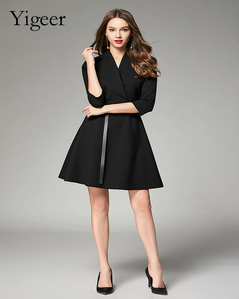 Short Sleeve Wrap Dress With Waist belt