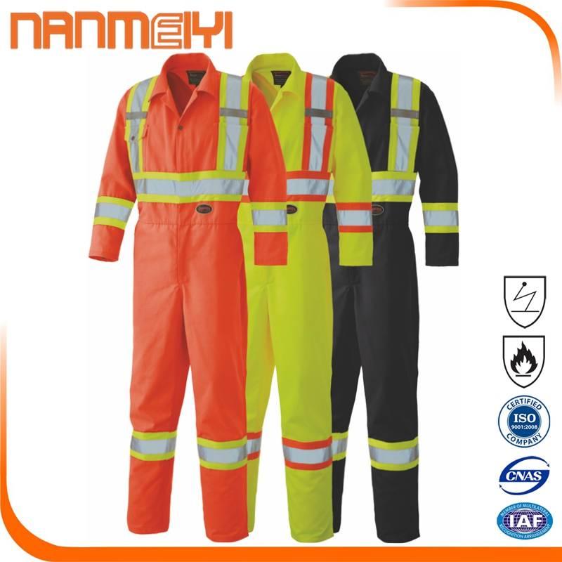 Hi Vis Reflective Safety Men's Construction Uniform Overall
