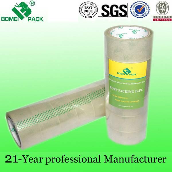 Transparent bopp carton sealing tape