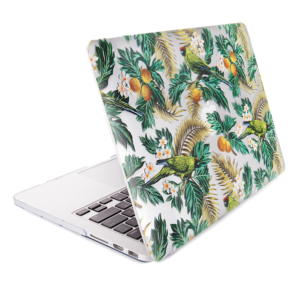 Premium Marble Pattern Full Protective Laptop Case Hard Shell Cover For Macbook Pro Series White Mar