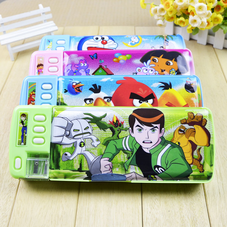Cartoon Plastic Pencil Case For Kids