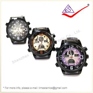 Made in China Supplier Dual Analog Digital Watch with Plastic Time Star Wathes for Man