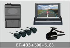 Video Parking System TFT LCD waterproof ET-438+600+6188