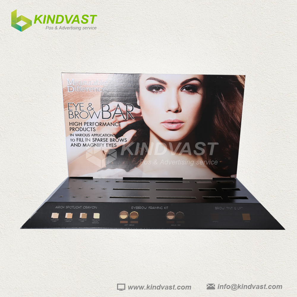 New style eyebrow pencil counter corrugated cardboard display stand