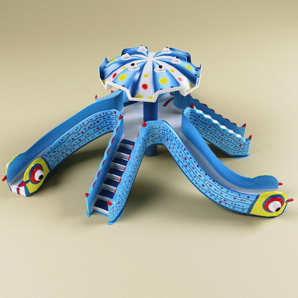 Octopus water slide