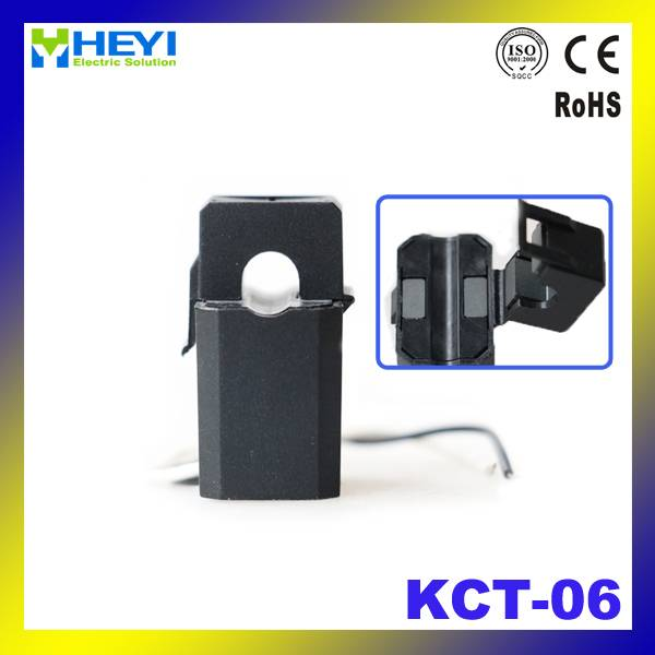 KCT-06 single phase current transformer split core ct open type 50A/25mA clamp on current transforme