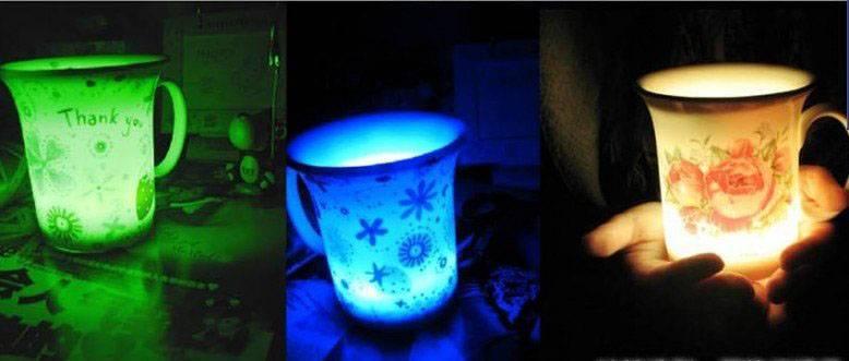 Product Name Light Emitting Bone China Cup Romantic Light Emitting