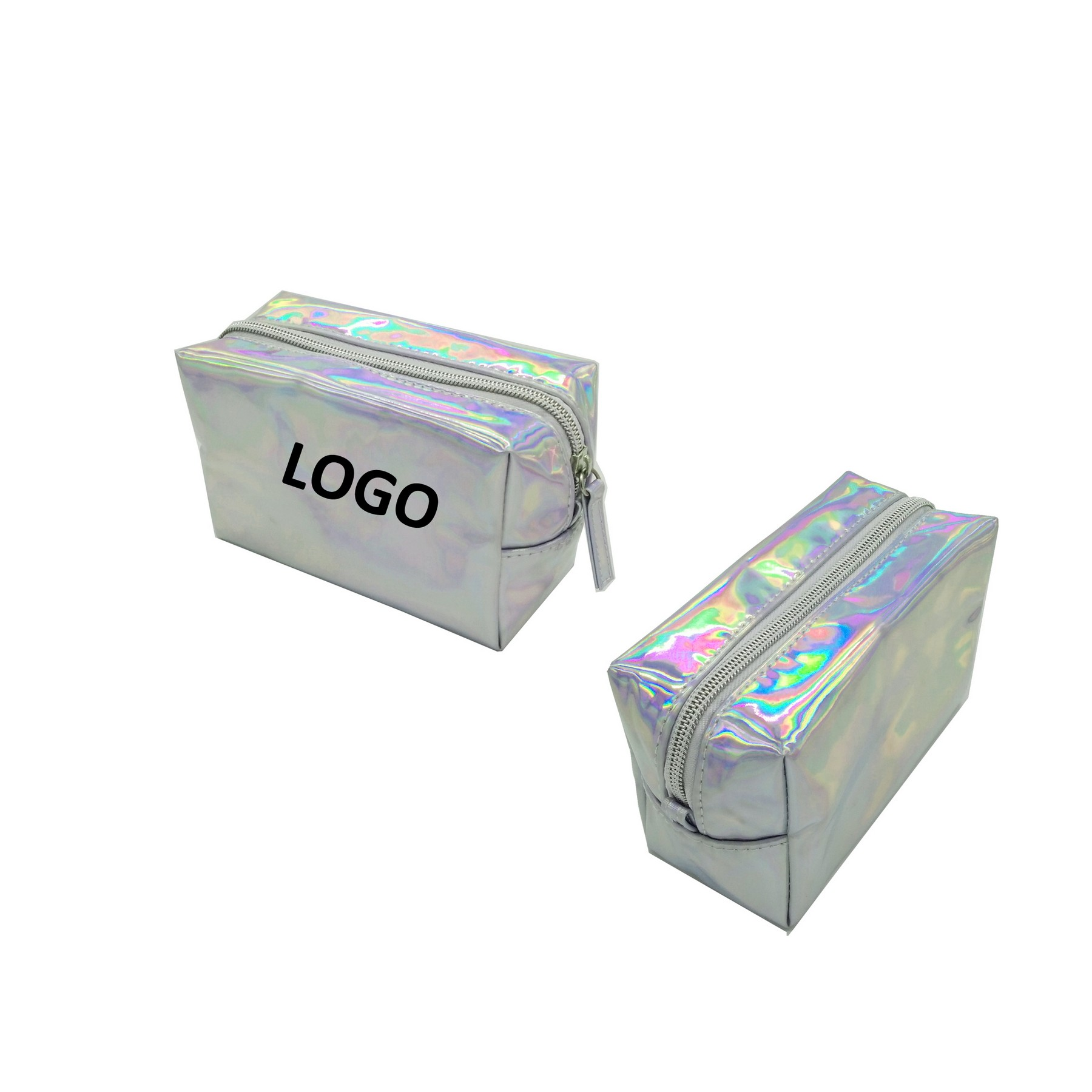 PVC Women Laser Magnificent Shiny Makeup Colorful Zipper Bag,Promotional LaserCosmeticBag Supplier