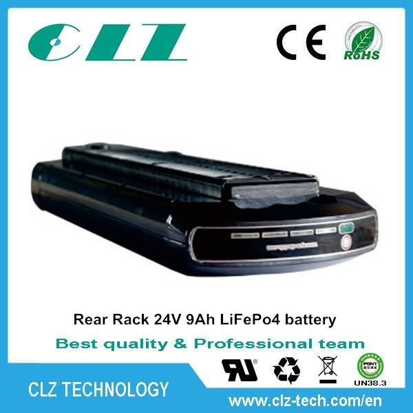 OEM manufacturer rechargeable 18650 24v 10Ah lifepo4 electric bike battery