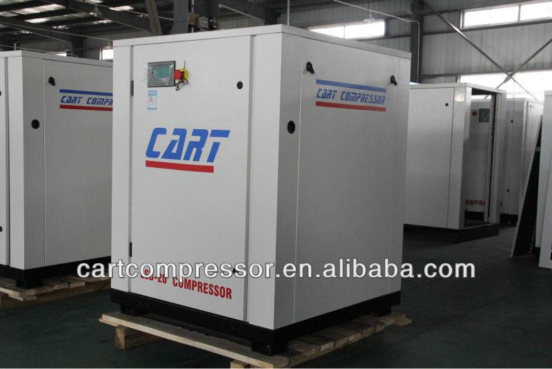 Chinese Brand Cart Screw Air Compressor Belt Driven Stationary Lubricated  15KW 20HP