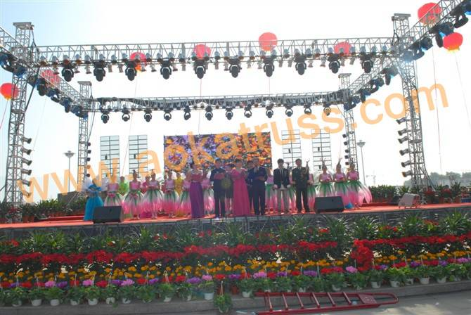 Outdoor Performance Stage Background Truss