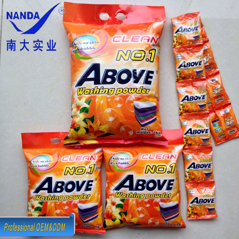 Above detergent powder