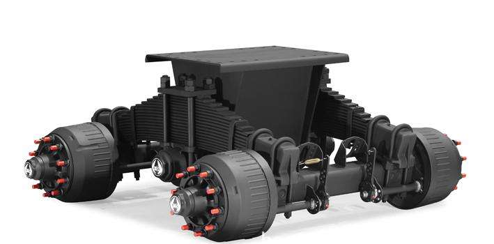 Germany Tandem Axles Suspension Bogie Suspensions Heavy Truck Suspension System