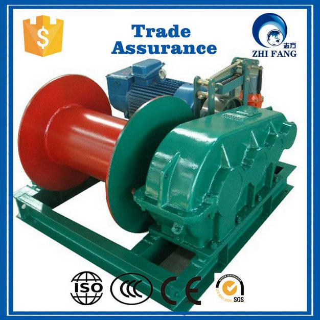 2016 new design slow speed large tonnage electric winch