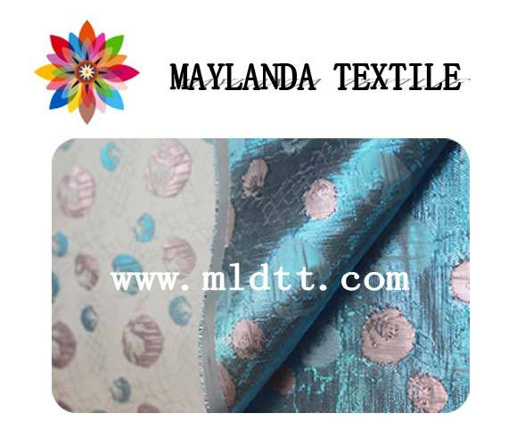 Maylanda Textile 2016 Factory for Garments, New Style Dyeing Jacquard Fabric with Matallic Yarn LMR1