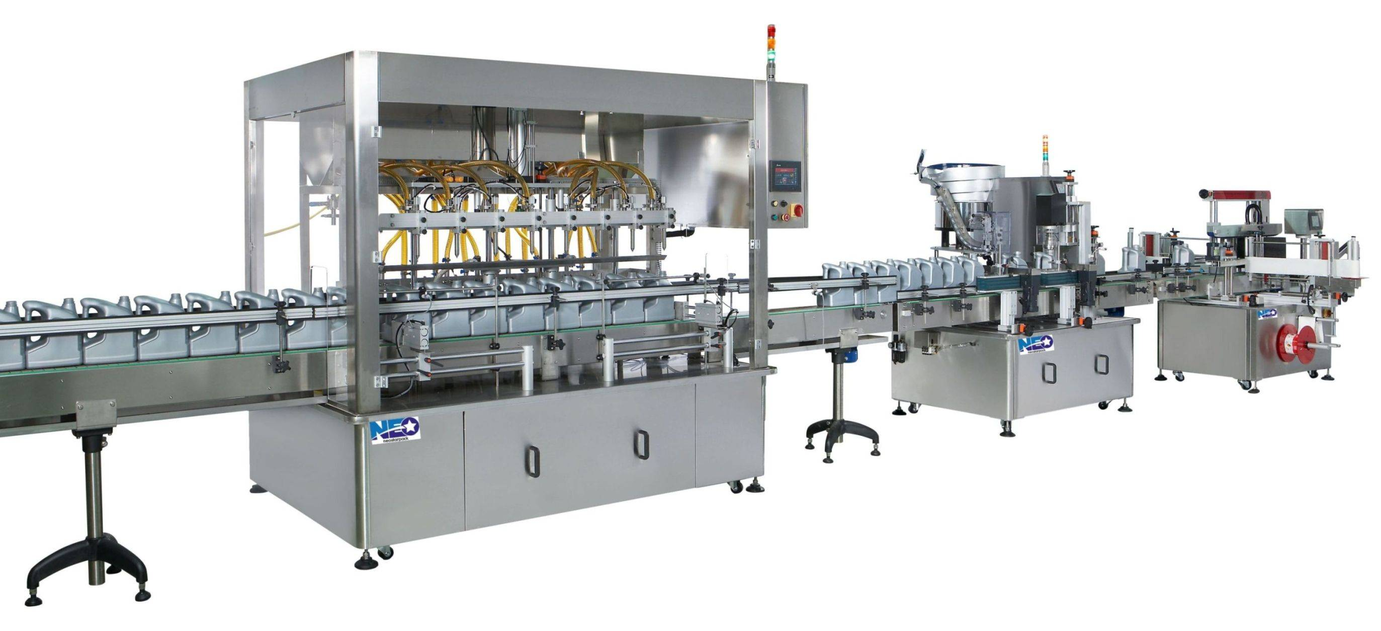Automated Filling-Capping-Labeling Production Line