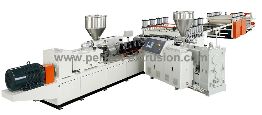 PVC Crust Foam Board Making Machine, PVC Extrusion Line