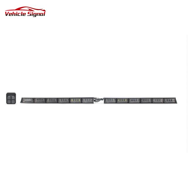 High Quality Led Visor Lightbar Split Mount Deck Dash Led emergency Strobe lights bar