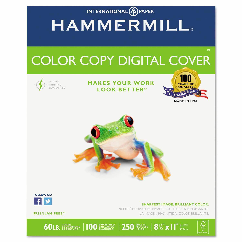 """Color Copy Cover Paper, 60lb, 100 Bright, 8-1/2 x 11"""" - 500 Sheets"""