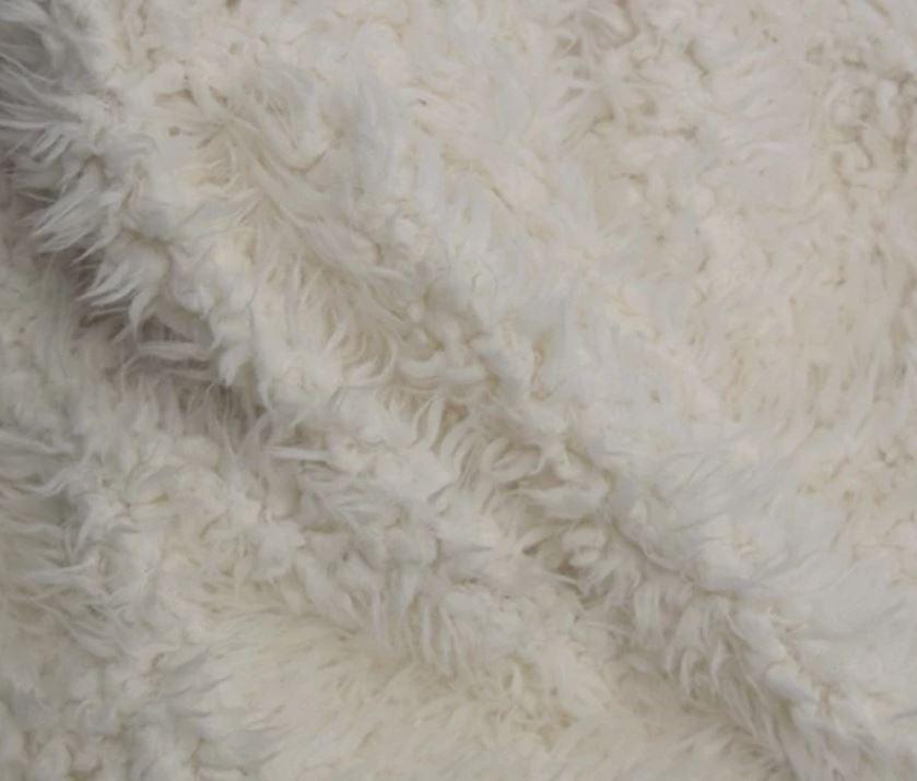 Imitation lama wool fabric made in South Korea
