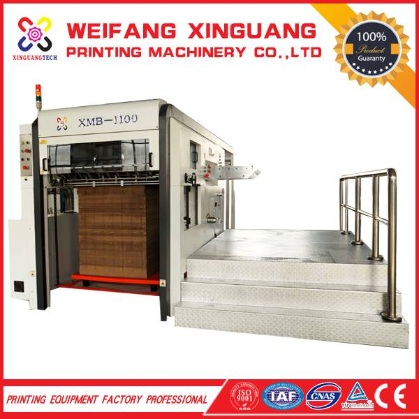 XMB-1100 The high quality flatbed caron die cutting machine for sales