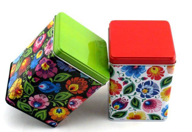 Small Square Food Tin Box For Chocolate Packaging