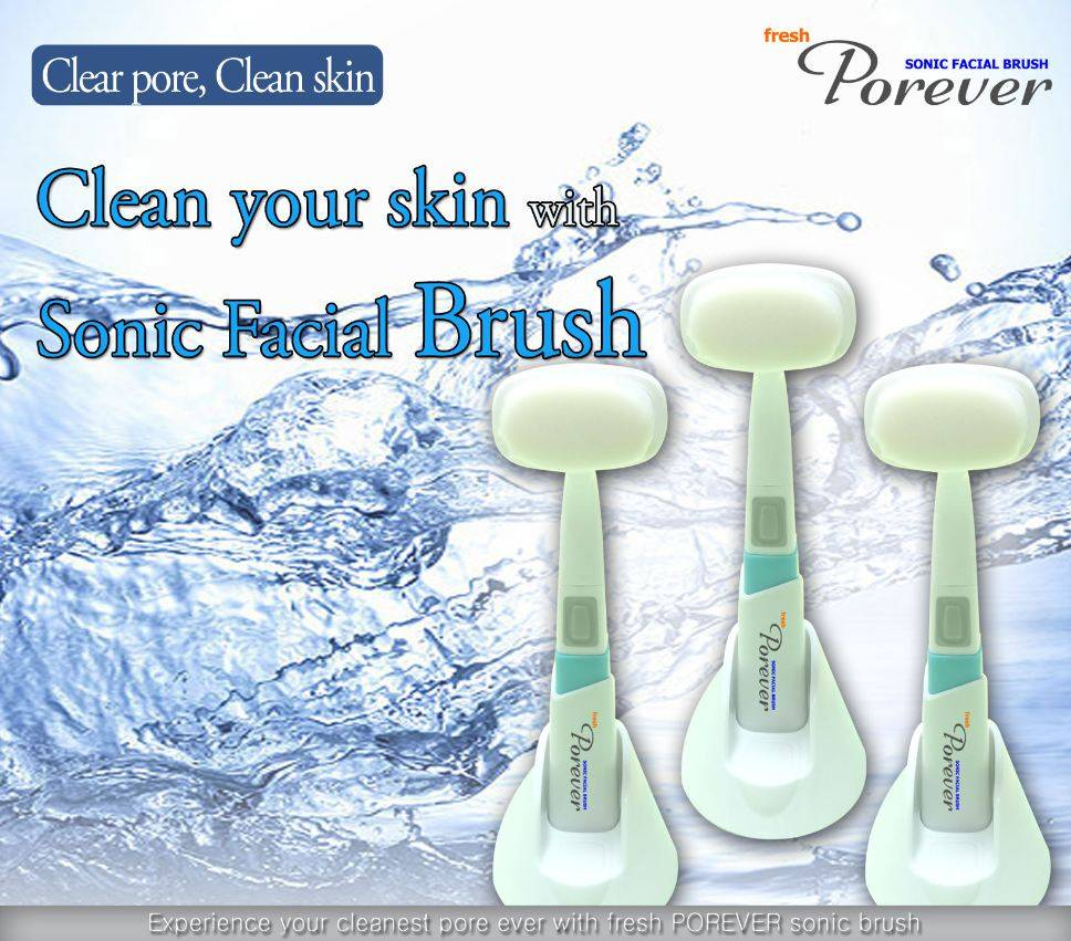 Sonic Wave Vibration Facial Pore Cleansing Brush(Porever)