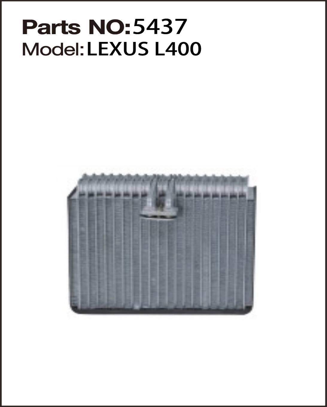 LUXUS evaporator auto ac parts