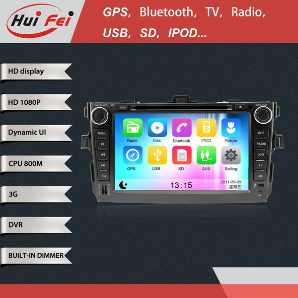 1080P high definition touch screen in car dvd player with 3G wifi gps navigation rear view camera