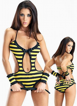 sexy underwear for female sex dress sex costume Bees Dress