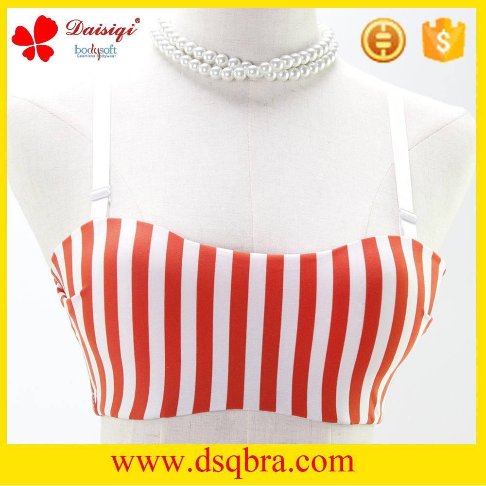 Fashional stylish cotton material underwear girls sexy tube sexy bra