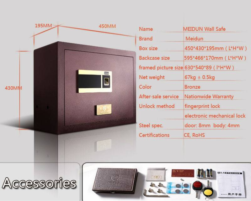 2015 new design Shenzhen KERONG Brand fingerprint home safe