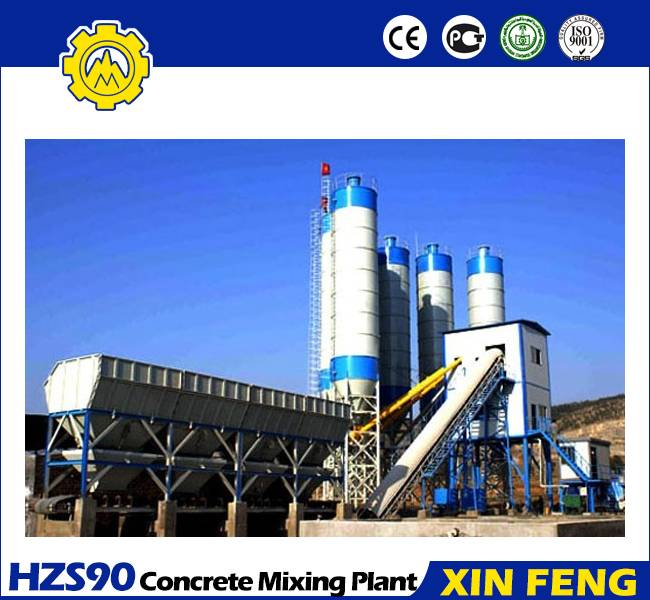HZS90concrete mixing plant