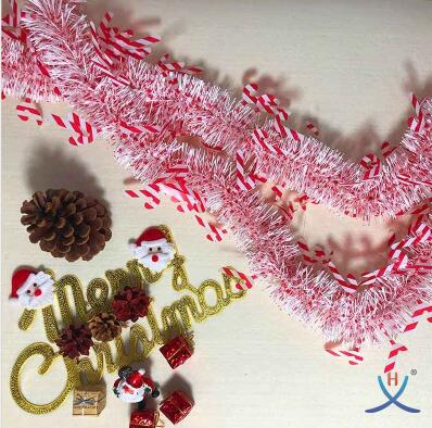 Hexing Hot Sale Christmas Crutches Tinsel Good Quality Foil Garland Gift