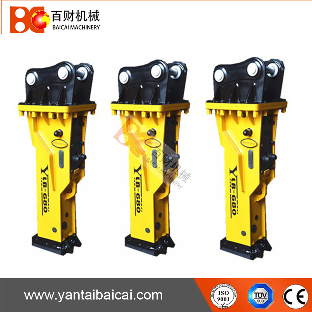 Silenced type hydraulic breaker hammer with 68mm chisel