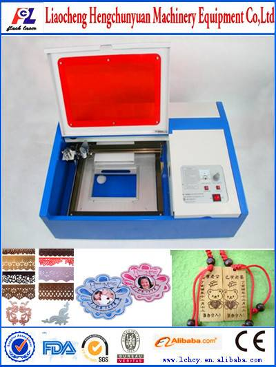 desktop mini CO2 water cooling laser engraving machine K40