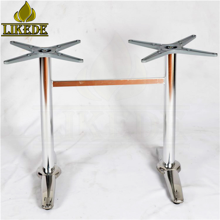 Hot sale low price double legs steel pipe table legs 304# stainless steel table frame