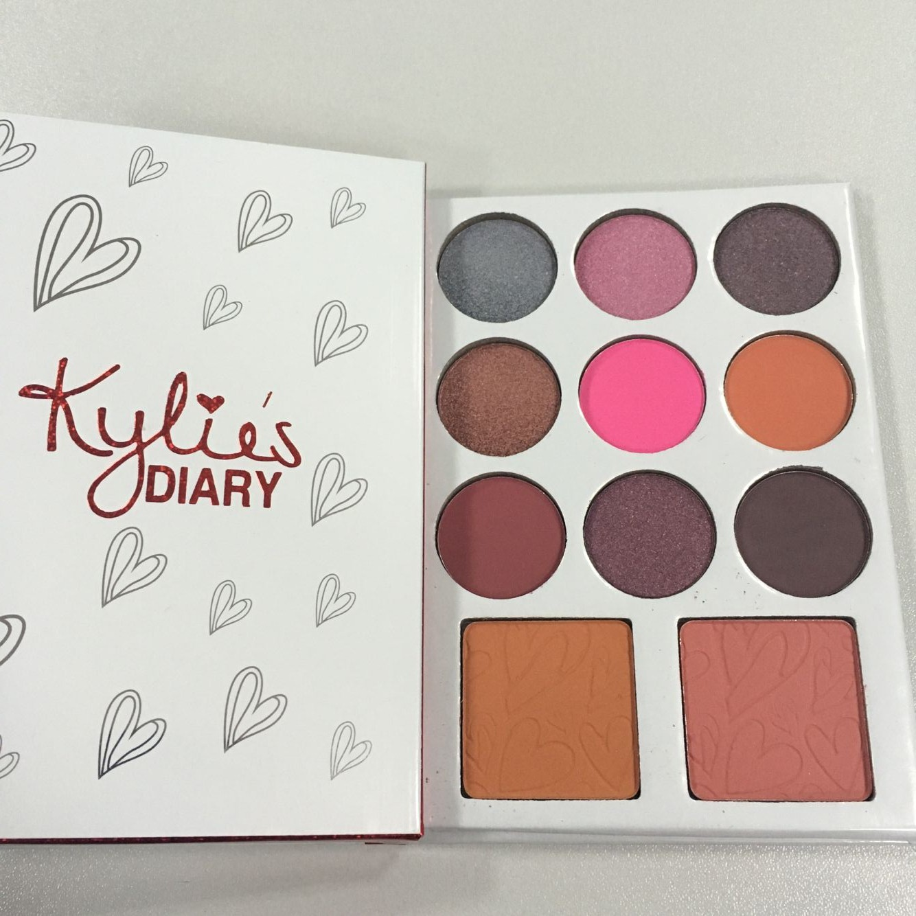 2017 Newest Kylie Valentine's Diary Kyshadow Blush 11 Colors Eye Shadow Palette