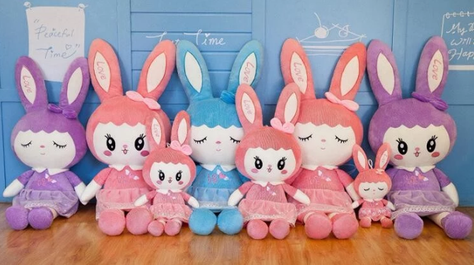 Cute dolls Baby bunny plush toys stuffed animals dolls for baby