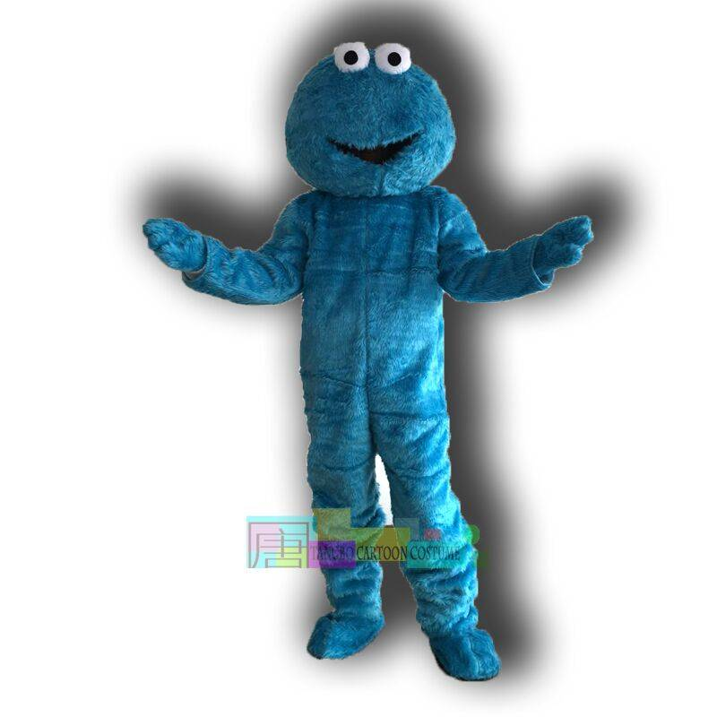 Blue COOKIE MONSTER mascot costumes for sale anime carnival costume Halloween Dress free shipping