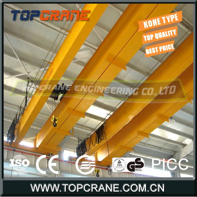 LH Type Double Beam Bridge Crane With Hoist Trolley